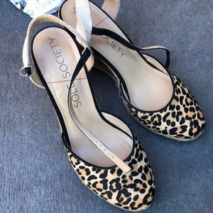 Sole Society leopard wedges
